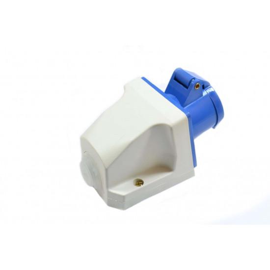 Priključnica UKO-UTO 16A zidna 1P+N+E HT113