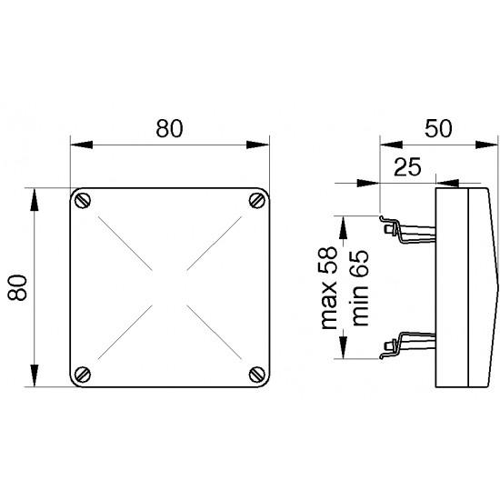 Kutija za stalni priključak 2.5mm2 uzidna art.450
