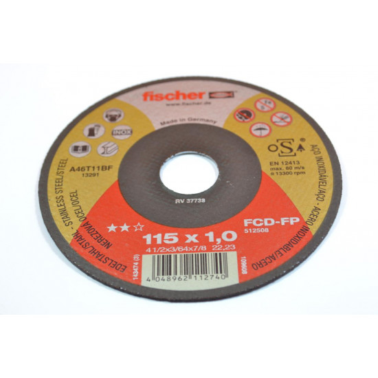REZNA PLOCA 115x1,0 INOX Fischer