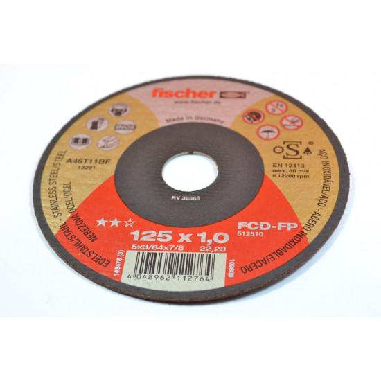 REZNA PLOCA 125x1,0 INOX Fischer