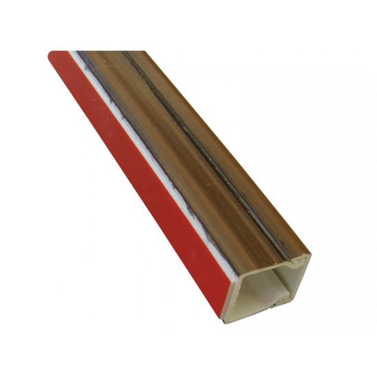 Kanalica PVC samolepljiva tamni orah 16X16X2000 M-T