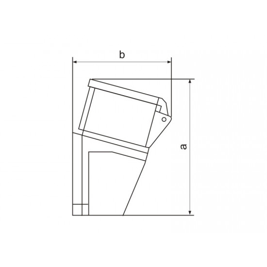 Priključnica zidna UKO-UTO 32A 3P+E HT124