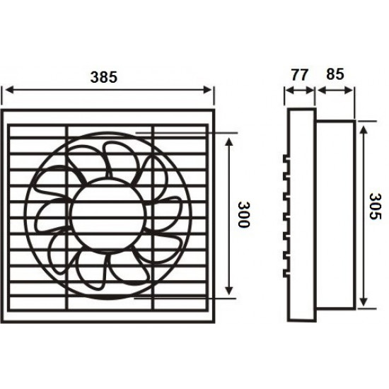 Aspirator fi 300/45W BPT10-14-2