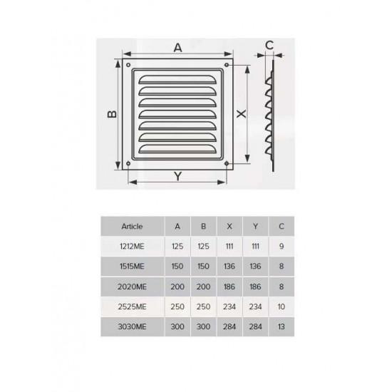 Ventilaciona žaluzina ERA 150x150x8 mm