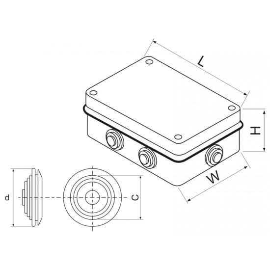 Razvodna kutija OG 100x100x50 IP55 M-T